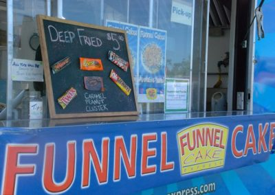 funnel cakes truck and menu