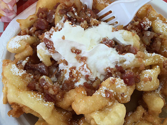 Maple Bacon Funnel Cake
